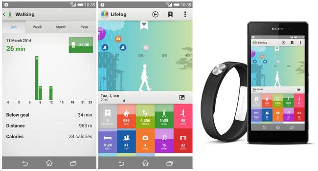 App Lifelog Sony