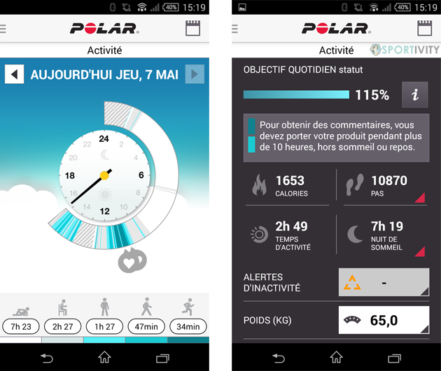 App Polar Flow Android