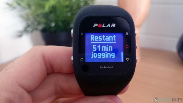 Temps restant pour atteindre objectif fitness quotidien