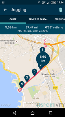 Application GPS Montre de sport