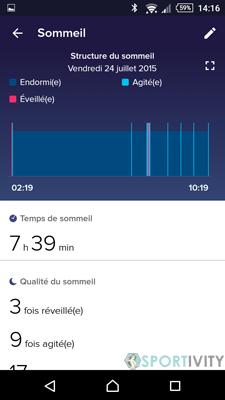 Suivi du sommeil sur Fitbit Surge