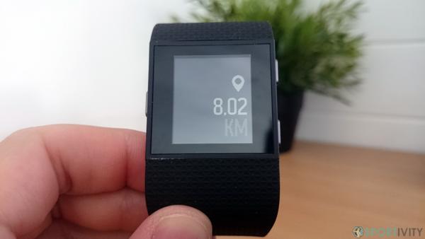 Tracker Fitness mesurant la distance parcourue