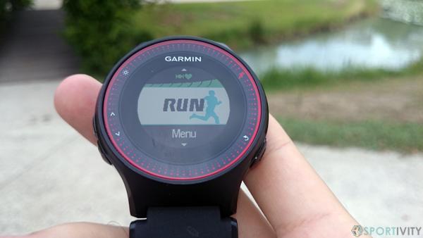 Courir avec la Garmin FR225