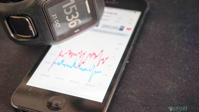 App mobile pour montre TomTom Runner Cardio