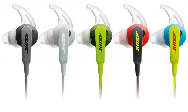 Les écouteurs Bose SoundSport en plusieurs couleurs