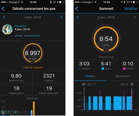 Présentation de l'app Garmin Connect sur iOS