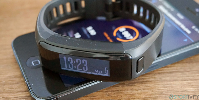 Garmin Vivosmart HR et son application mobile