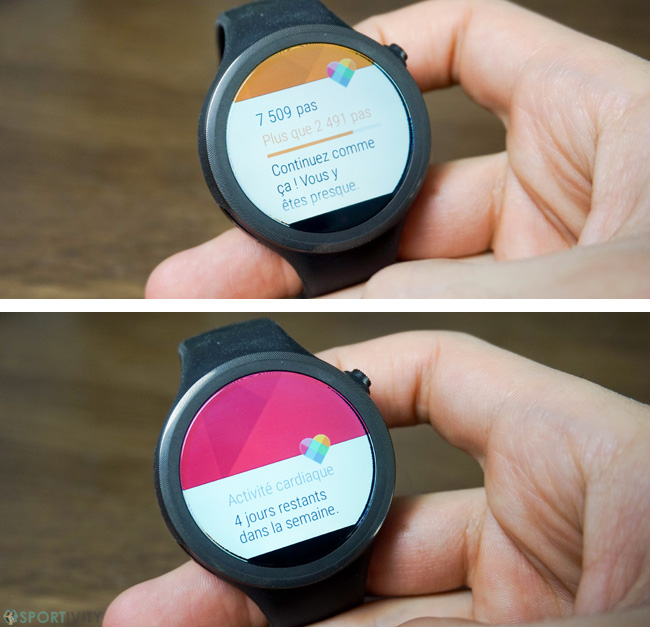 Cartes sur montre Android Wear