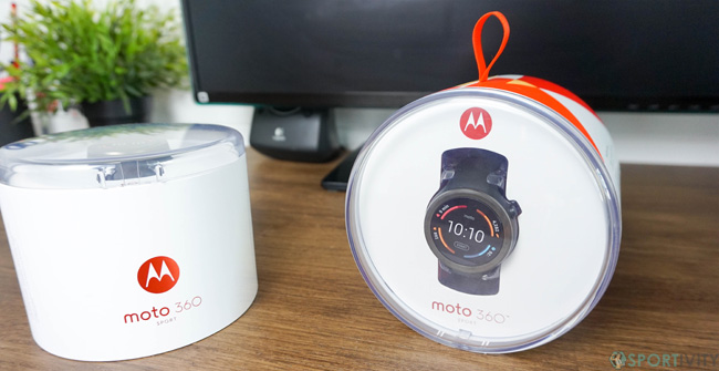 Packaging de la Motorola Moto 360 Sport