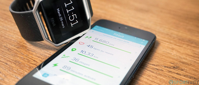 Application mobile de Fitbit