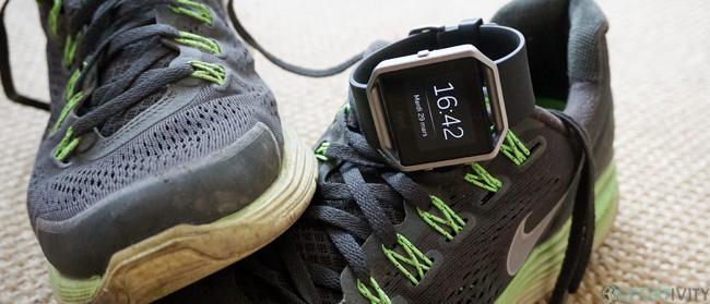 Running avec la montre Fitbit Blaze