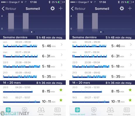 Suivi du sommeil depuis montre sport