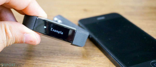 Notifications des SMS sur bracelet connecté