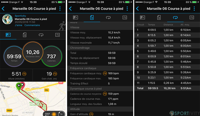 App mobile Garmin Connect