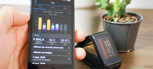 Montre de sport avec application mobile
