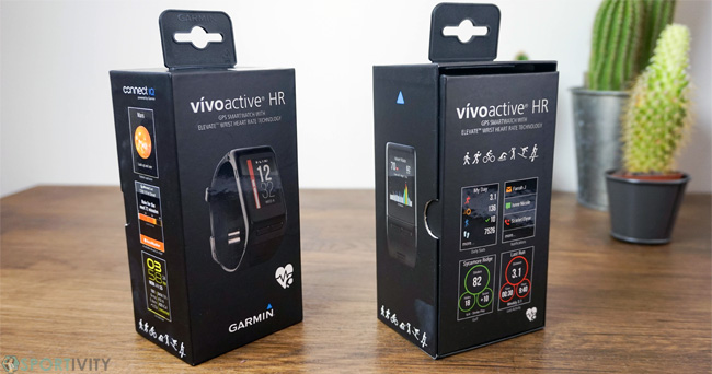 Packaging de la Garmin Vivoactive HR