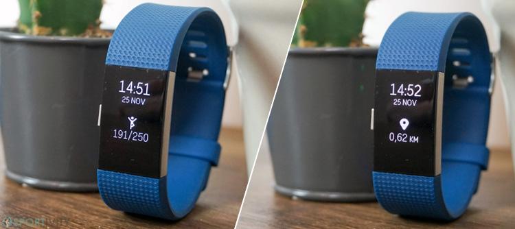 Affichage du Fitbit Charge 2