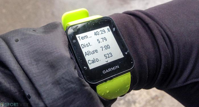 Résumé de l'entrainement de course à pieds