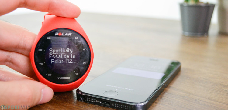 Montre de sport avec notifications smartphone