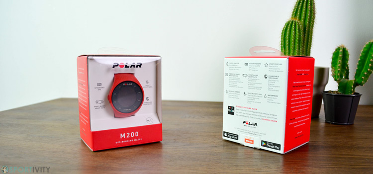 Packaging montre cardio GPS de chez Polar